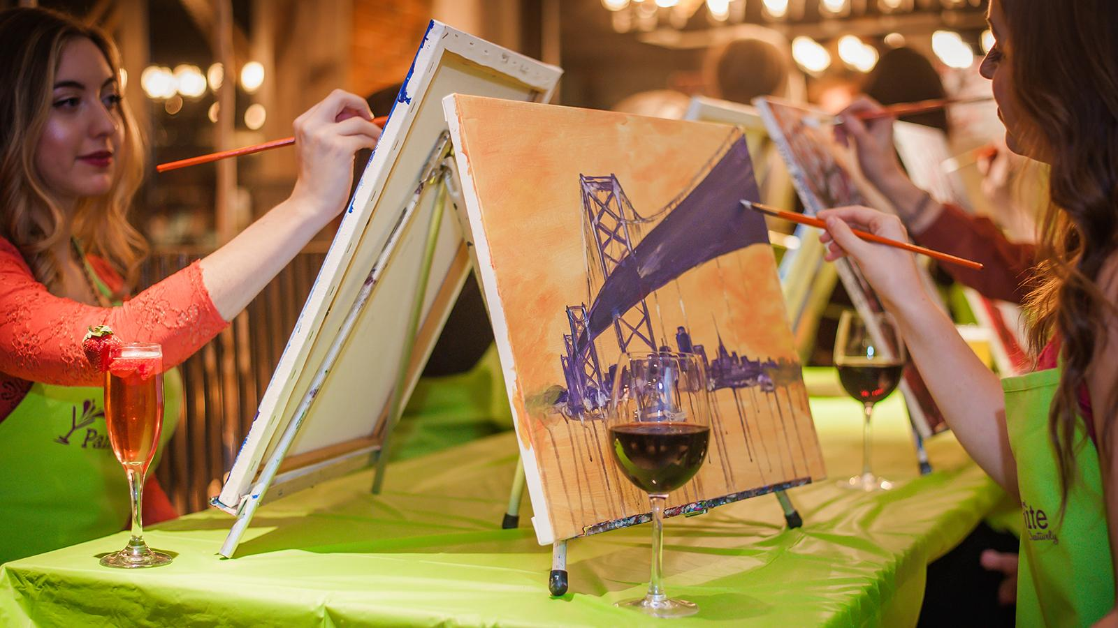 Painting, Sipping and Selling Wine