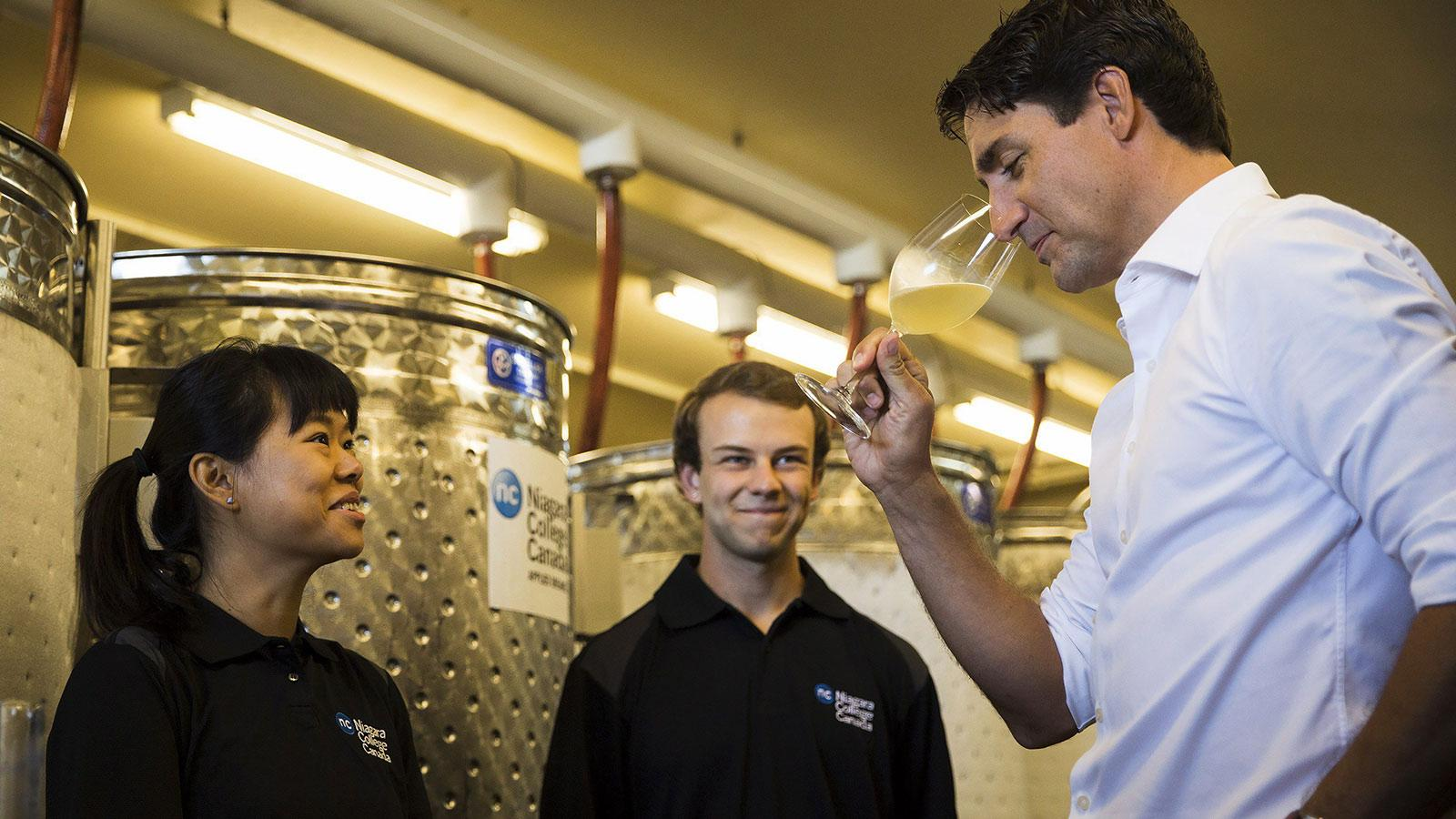 Justin Trudeau Joins the Cool(-Climate) Kids of Canadian Wine