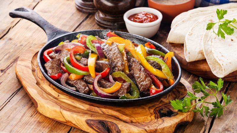 8 & $20: Steak Fajitas