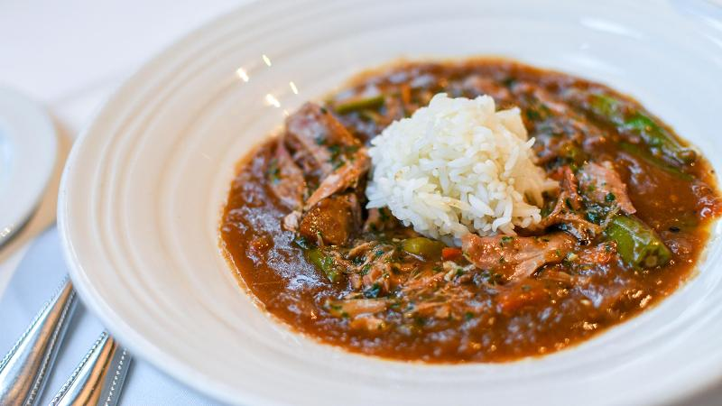 The Feast: Mardi Gras Melting Pot—Duck and Sausage Gumbo