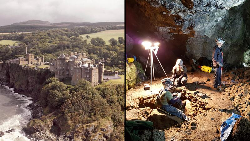 Wine Smugglers' Lair Found? Hidden Doorway, Bottle Stash Uncovered in Scottish Castle Caves