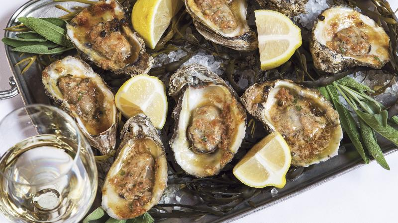 Dining Tip: Emeril's Festive Grilled Oysters With Country Ham