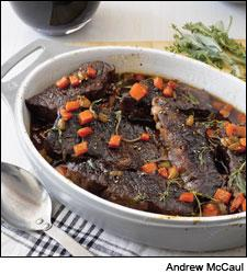 Braised Short Ribs with Sage-scented Beef Jus