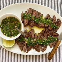 Lime isn't traditionally part of chimichurri, but it adds an extra brightness to the summery sauce.5 Favorite Recipes: Steaks for a Cookout