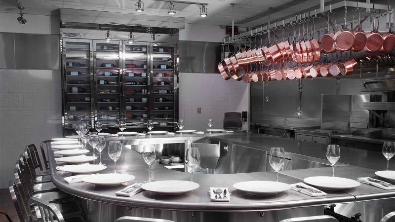 The kitchen at Chef's Table at Brooklyn Fare