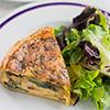 Quiche with bacon, gruyère and caramalized onions
