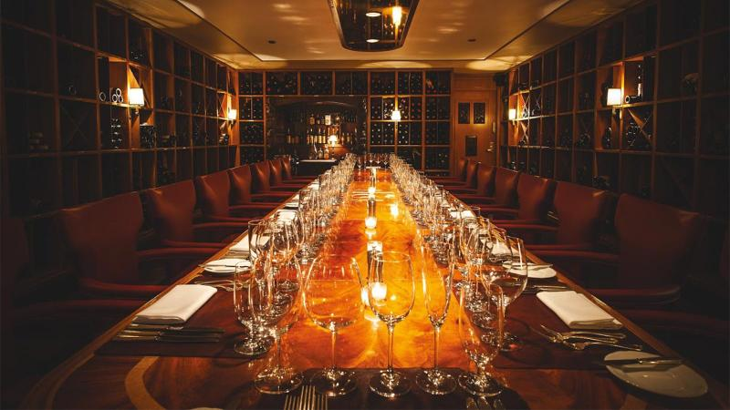 The wine room at '21' Club