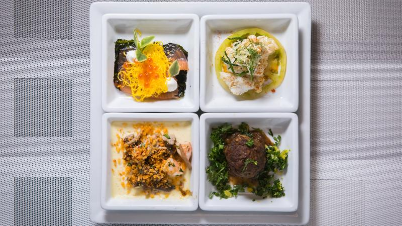 The four chefs' dishes