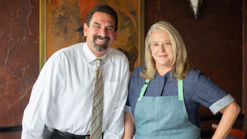 Boulevard's wine director John Lancaster and chef and co-owner Nancy Oakes