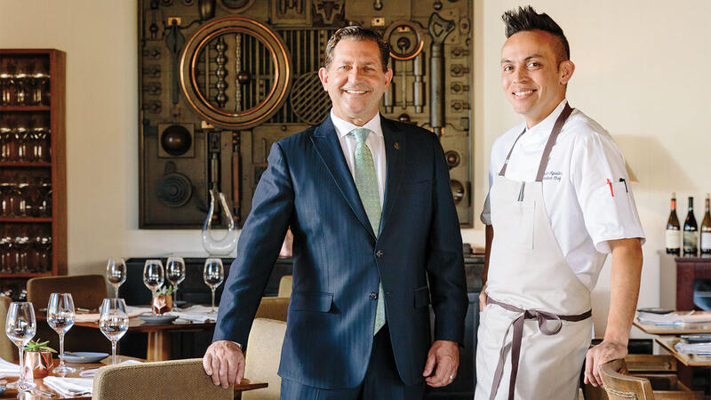 Madera wine director Paul Mekis and chef Reylon Agustin