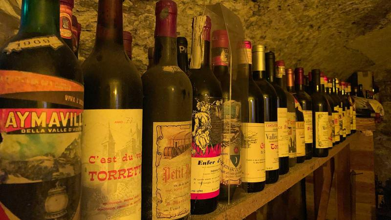 A collection of old Valle d'Aosta bottles