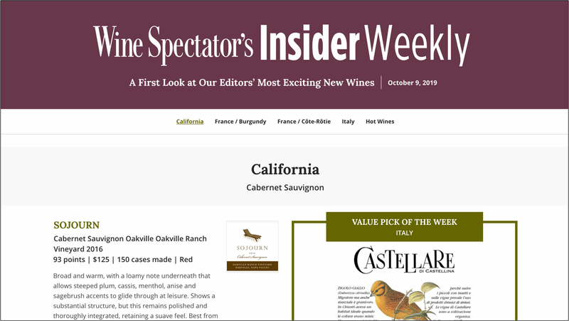 Wine Spectator Launches New Digital Weekly