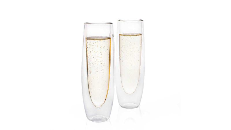 Eparé Double-Walled Champagne Glasses