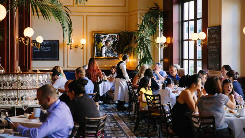 Diners at Bouchon's tables