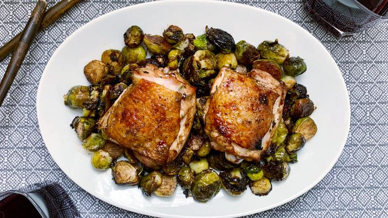 8 & $20: Sheet-Pan Chicken with Balsamic and Brussels Sprouts