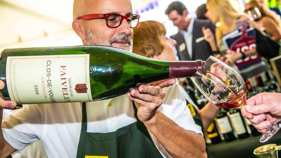 Domaine Faiveley donated six magnums of grand cru wines for auction and also poured some during the weekend.