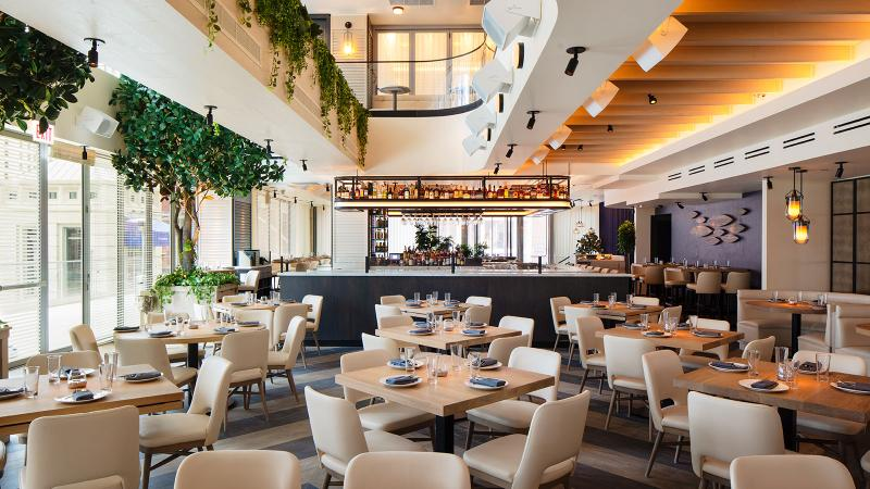 RPM Seafood dining room