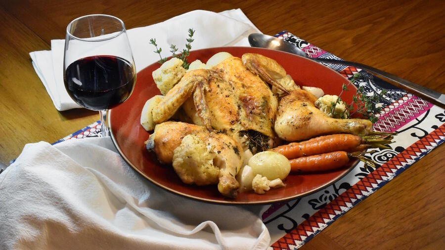 A Middle Eastern herb blend adds a flavorful twist to this roast.