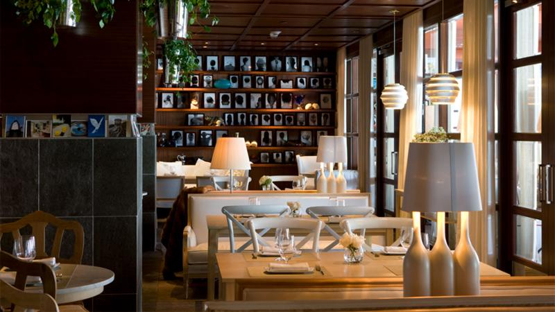 Set tables in the dining room at the Bazaar by José Andrés