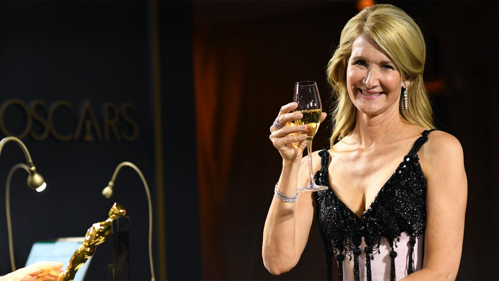 Oscars Wine Wins: 8,500 Champagne Piper Glasses, Gold Coppola Bottles and Wolfgang Puck Plates Plants