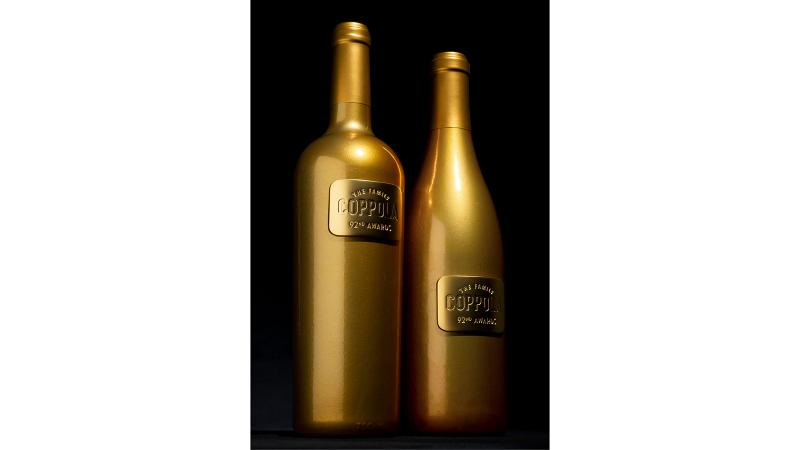 Coppola gold Oscars bottles