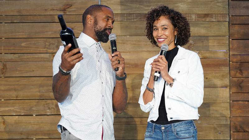 Charles Woodson and Sage Steele