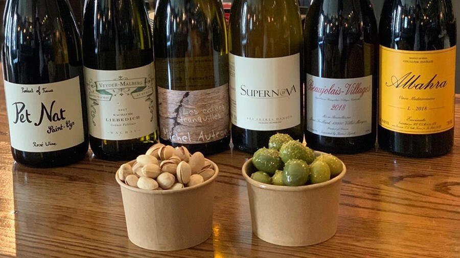 Six-packs and snacks: La Compagnie des Vins Surnaturels has been putting together wine and food deals for pickup or delivery around New York.