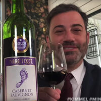 Late-night host Jimmy Kimmel and his wife, Molly McNearney, announced Gallo's $300,000 donation to the Children of Restaurant Employees program on Kimmel's show and encouraged others to follow suit.