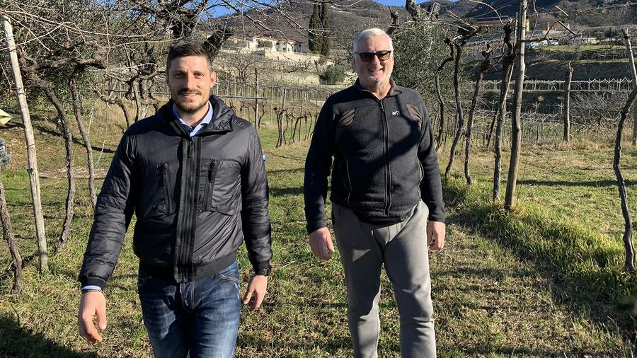 Tomasso Bussola and son Paolo in one of their family vineyards in the Valpolicella Classico region