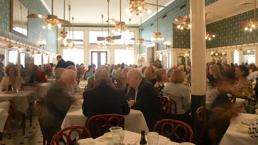 The French Quarter dining room at Galatoire's will not host its usual crowded lunches for the foreseeable future.