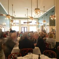 The French Quarter dining room at Galatoire's will not host its usual crowded lunches for the foreseeable future.Dine In? Take Out? America Is Having the Wrong Pandemic Debate