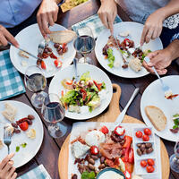 A Mediterranean diet, including moderate amounts of wine, can be both healthy and delicious.The Mediterranean Diet, Including Wine, May Decrease Frailty Among Elderly