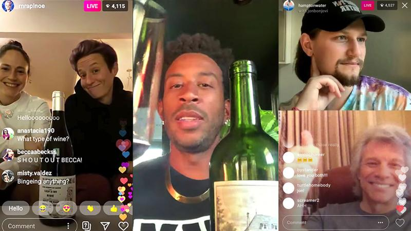 Ludacris, Jon Bon Jovi, Carmelo Anthony, Megan Rapinoe, Sue Bird All 'Wine Down' Virtually