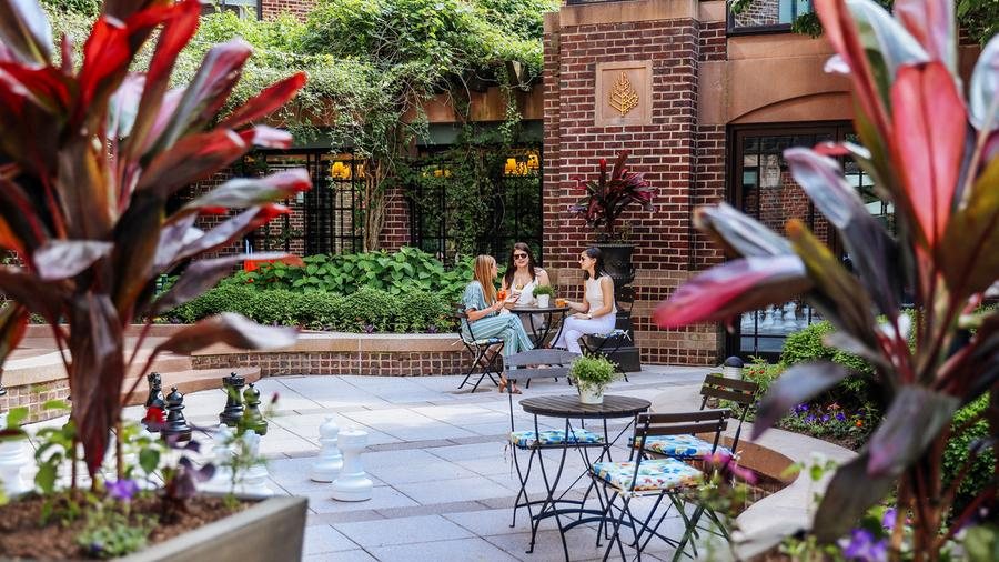 The D.C. location of chef-restaurateur Michael Mina's Bourbon Steak is now open for outdoor dining at the Four Seasons Hotel.