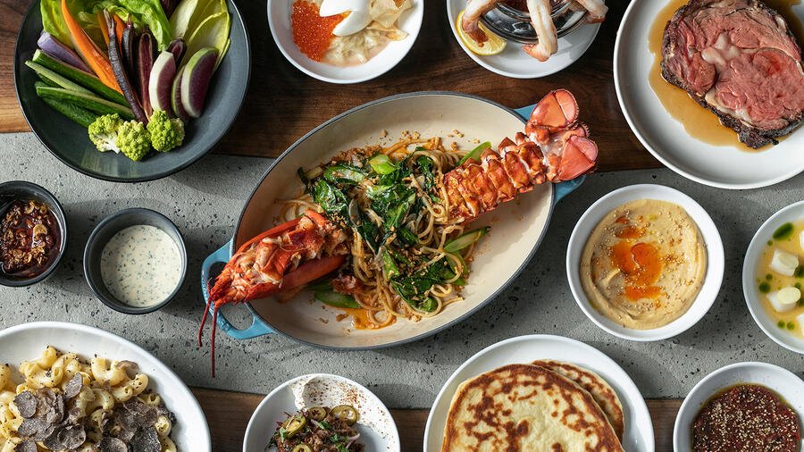 A wide variety of dishes served at the Las Vegas outpost of Majordōmo Meat & Fish.