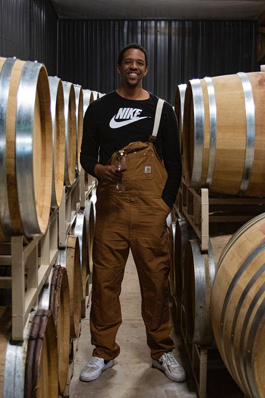 Channing Frye at L'Angolo Estate in the Willamette Valley.