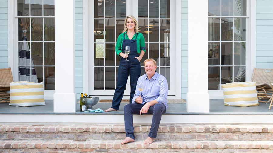 Tory and Britt McPhail designed their home in the historic Greek Revival style, including a double gallery and tall colonnades.