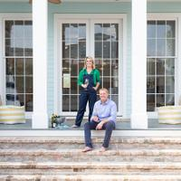 Tory and Britt McPhail designed their home in the historic Greek Revival style, including a double gallery and tall colonnades.At Home in a Pandemic