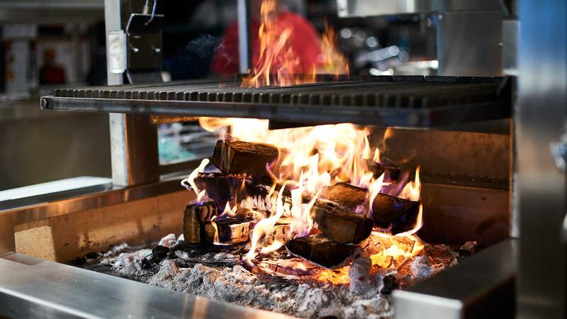 Open-flame grill at Ember