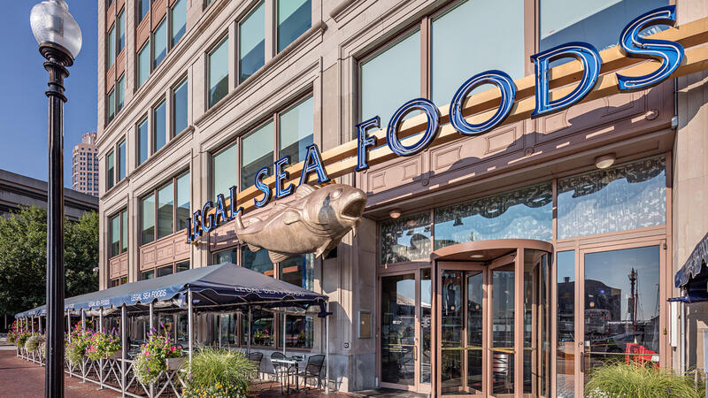 Exterior shot of a Legal Sea Foods in Boston
