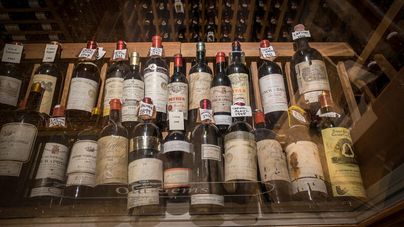 Bottles at Restaurant Latour