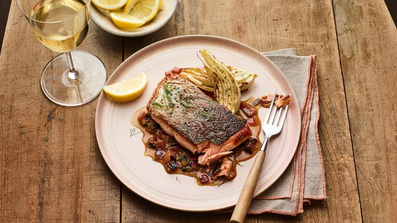 Salmon With Mexican Chardonnay