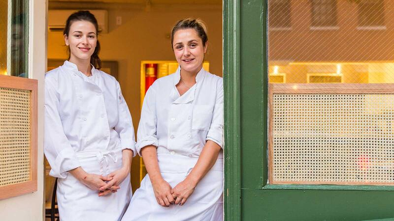 Portrait of Chefs Clare de Boer and Jess Shadbolt
