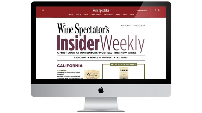 <em>Wine Spectator</em> Launches New Digital Weekly